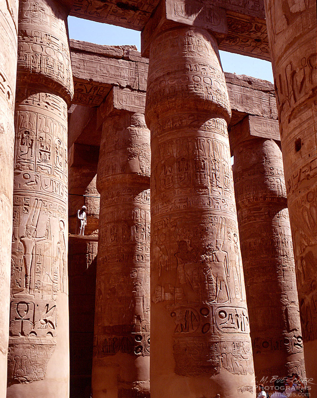 in the columns at Karnak